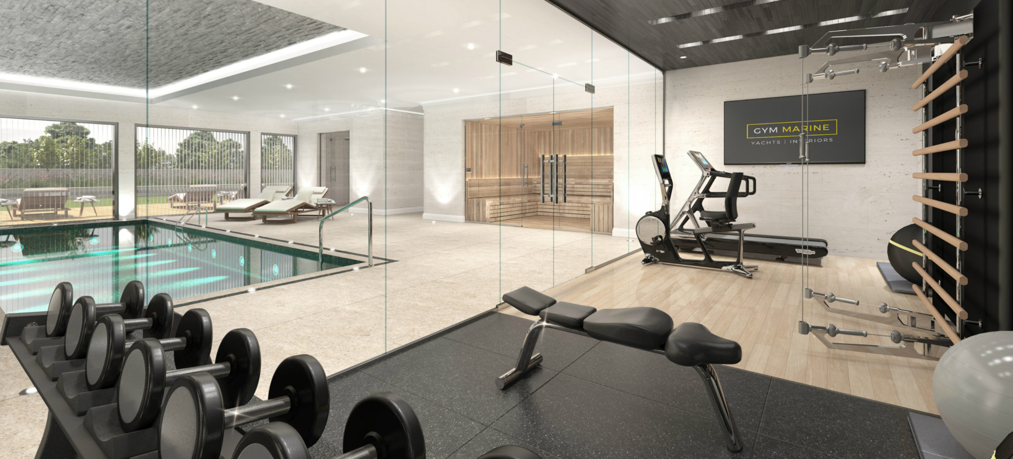 Superyacht gym home gym design buy gym equipment gym for Home gym interior design