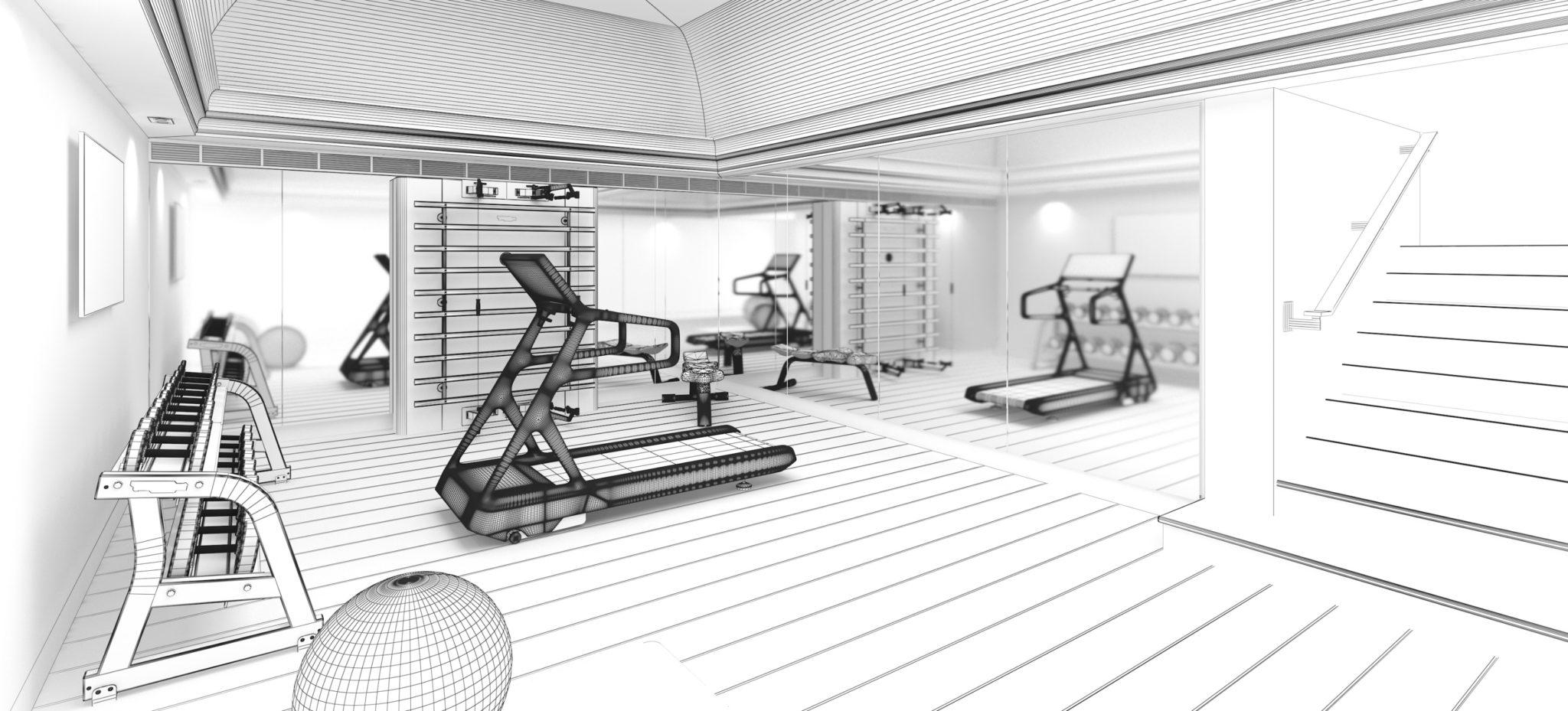 Home gym design Precious Home Design