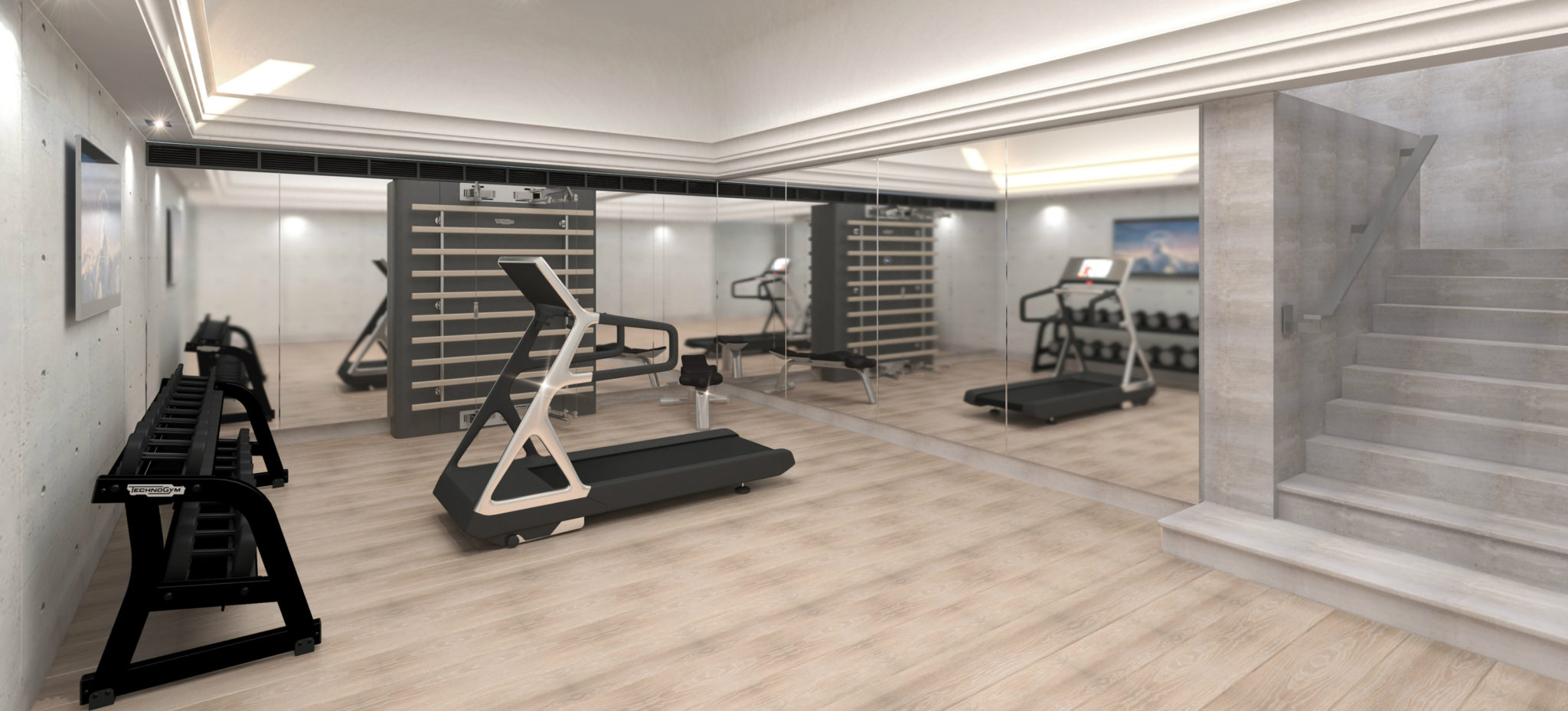 Gym design home luxury equipment by