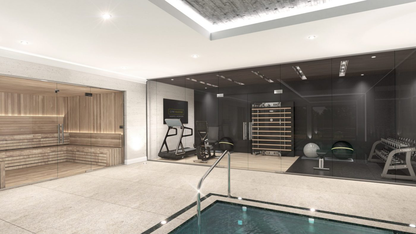basement gym design