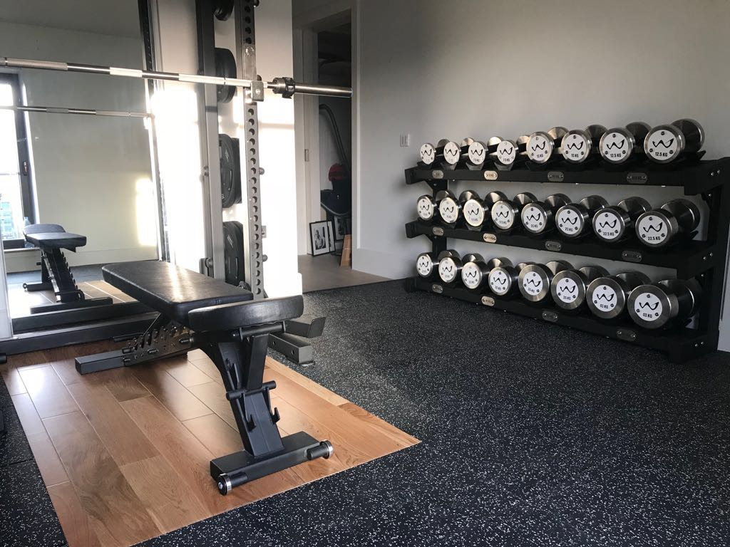 Dumbbell Rack and fitness room