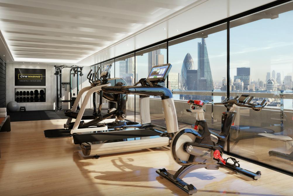 hotel gym design interiors equipment